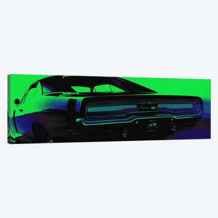 Neon Green Machine Canvas Print #ICA818} by 5by5collective Canvas Print