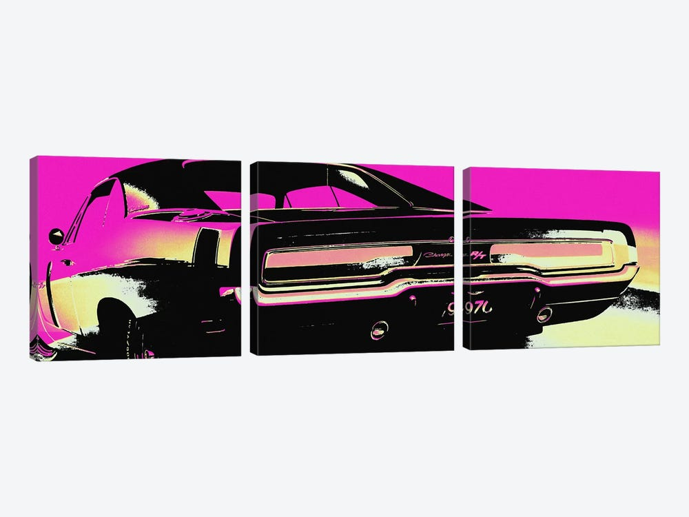 American Muscle Vice by 5by5collective 3-piece Canvas Print