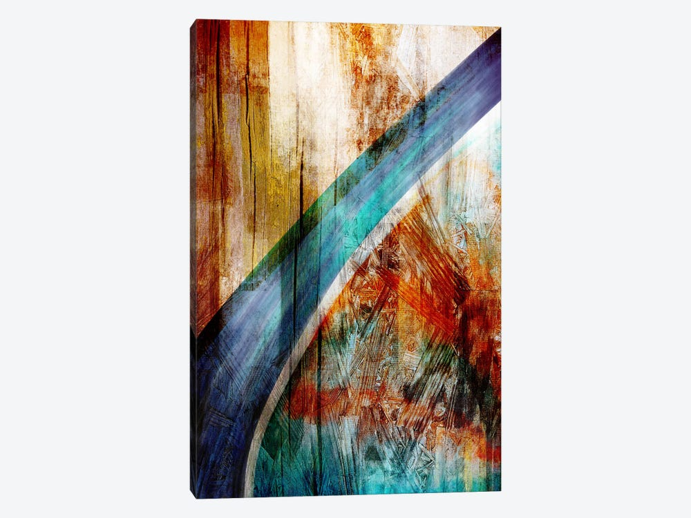 The Blue Woodgrain Path by iCanvas 1-piece Canvas Art Print