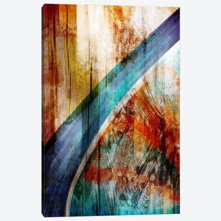The Blue Woodgrain Path Canvas Print #ICA81} by Unknown Artist Canvas Art Print