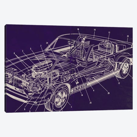GT Schematics Canvas Print #ICA821} by 5by5collective Canvas Art