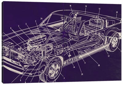 GT Schematics Canvas Print #ICA821