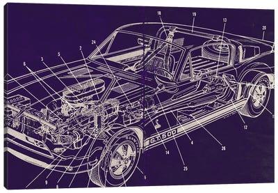 GT Schematics Canvas Art Print