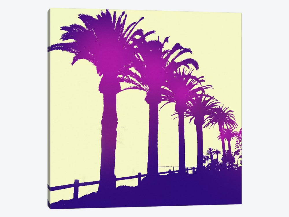Midnight Purple Palms by 5by5collective 1-piece Art Print