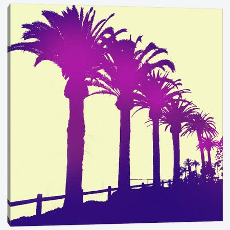 Midnight Purple Palms Canvas Print #ICA824} by 5by5collective Art Print