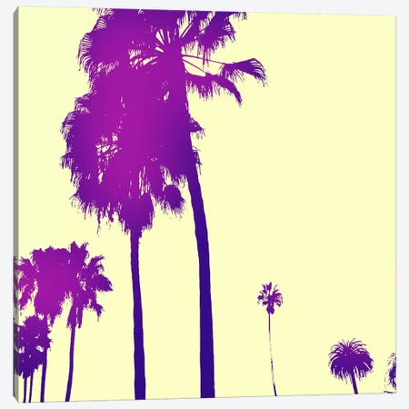 Midnight Purple Palms #2 Canvas Print #ICA825} by 5by5collective Canvas Print