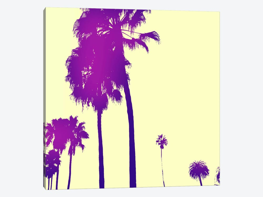 Midnight Purple Palms #2 by 5by5collective 1-piece Canvas Art