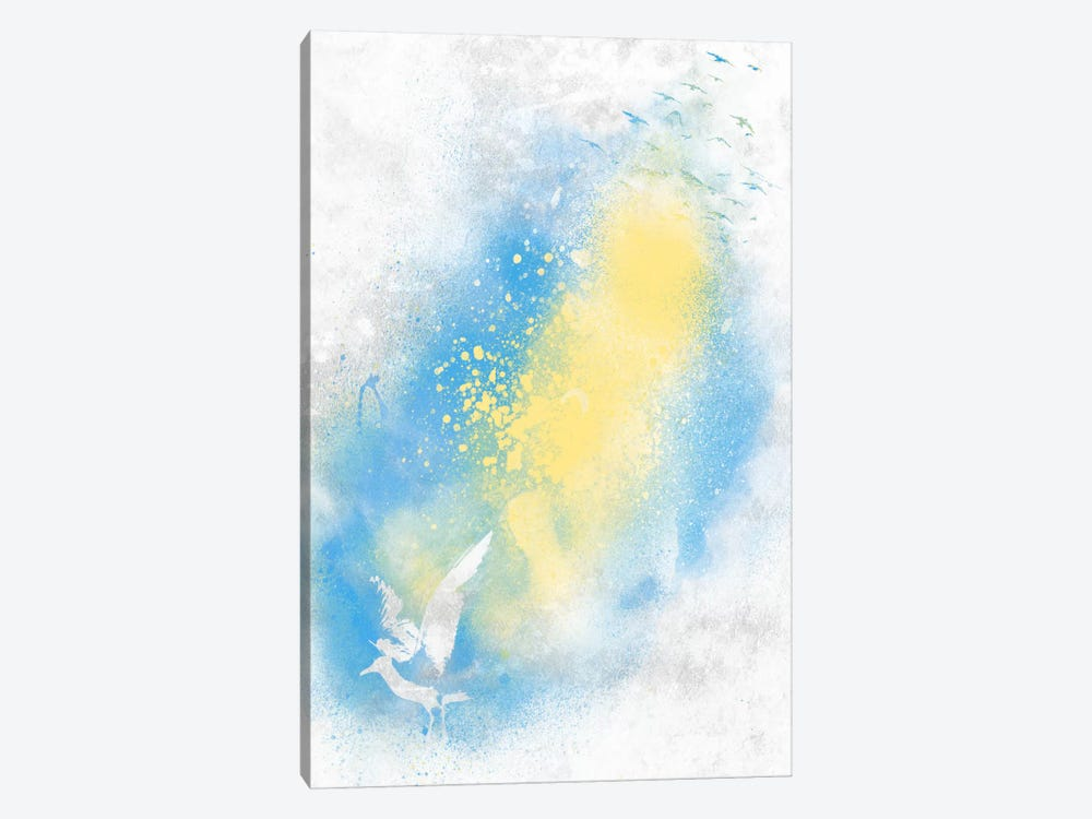 Distant Gulls by Unknown Artist 1-piece Canvas Art