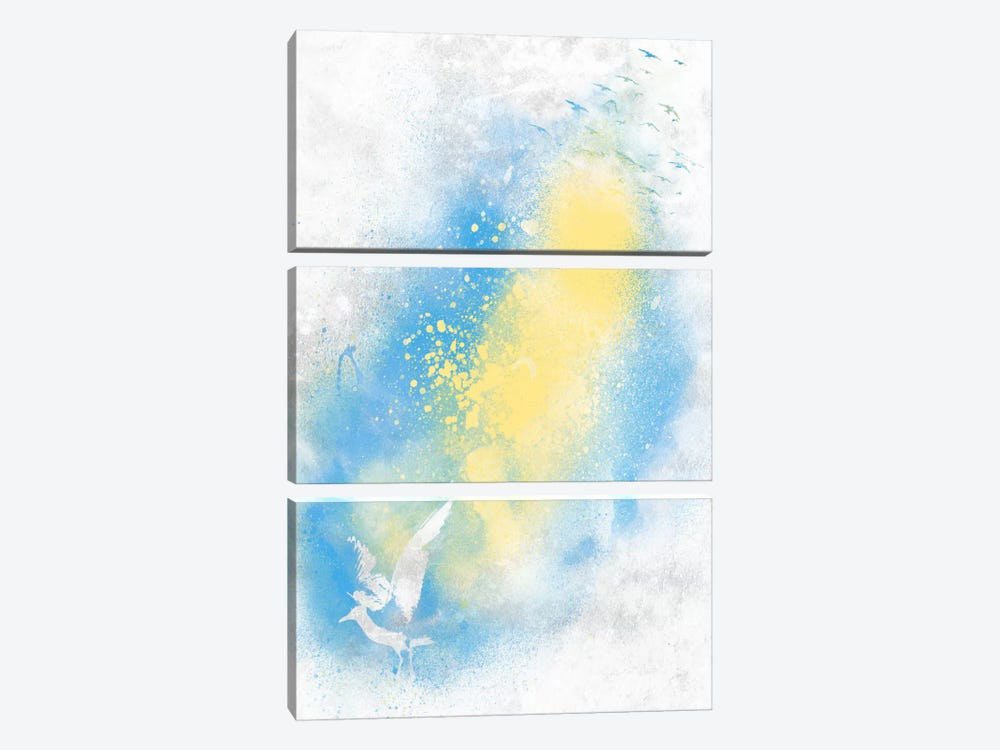 Distant Gulls by iCanvas 3-piece Canvas Wall Art
