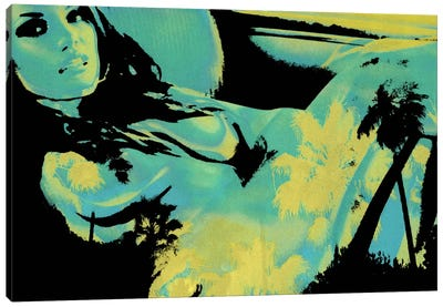 Reclining in Palms #2 Canvas Art Print