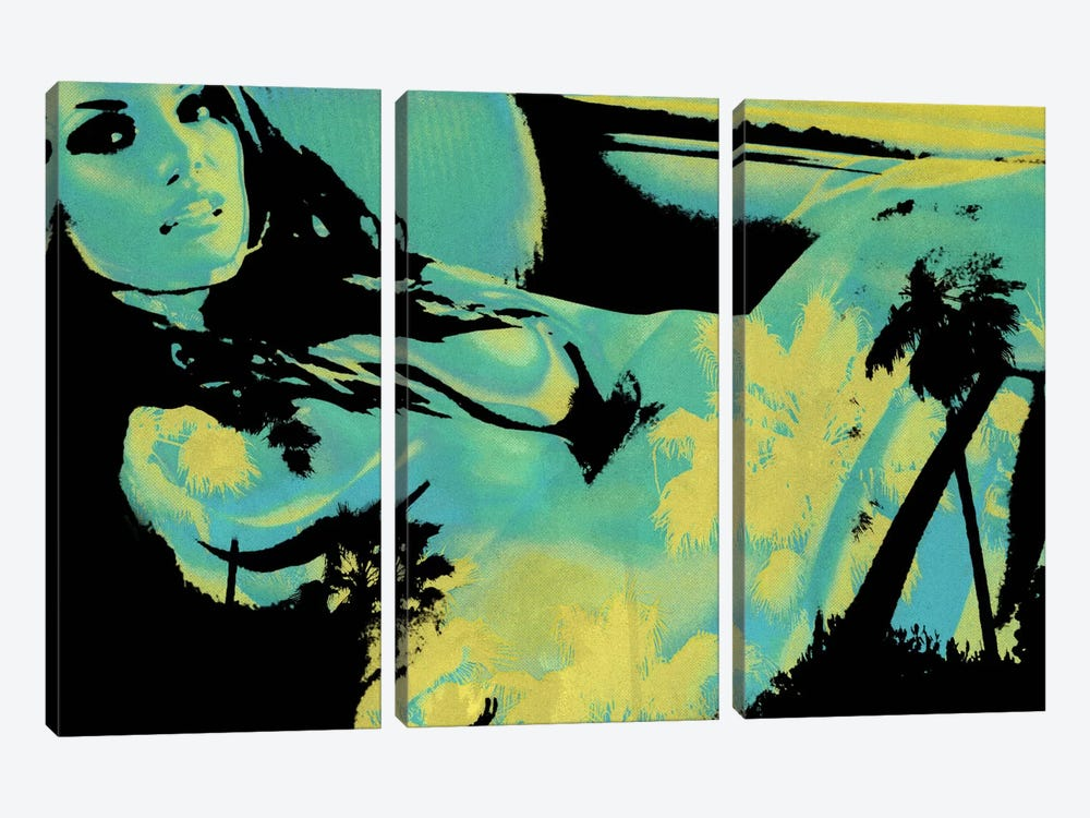 Reclining in Palms #2 by 5by5collective 3-piece Canvas Artwork