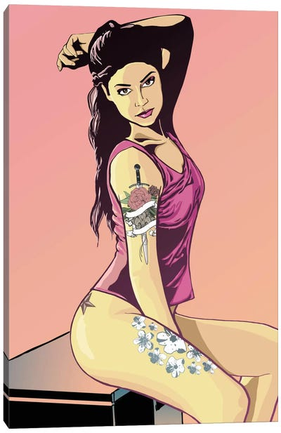 Suicide Girl Canvas Art Print