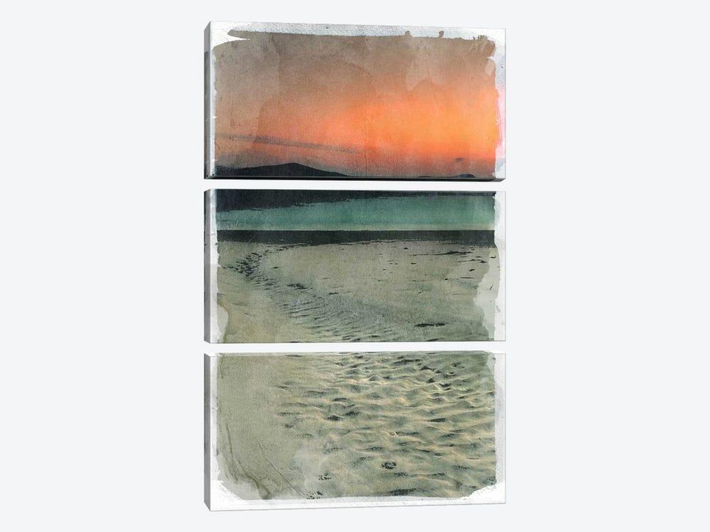 Sunset Beach by 5by5collective 3-piece Canvas Wall Art