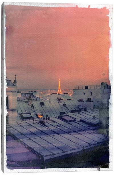 Paris in the Distance Canvas Art Print