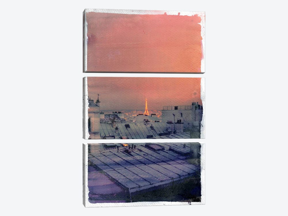 Paris in the Distance by 5by5collective 3-piece Canvas Artwork