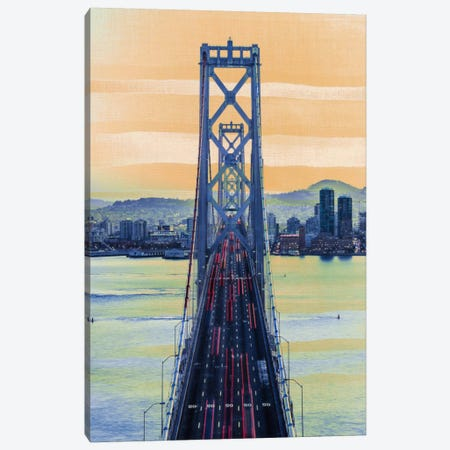 Bridge to the City Canvas Print #ICA850} by 5by5collective Art Print