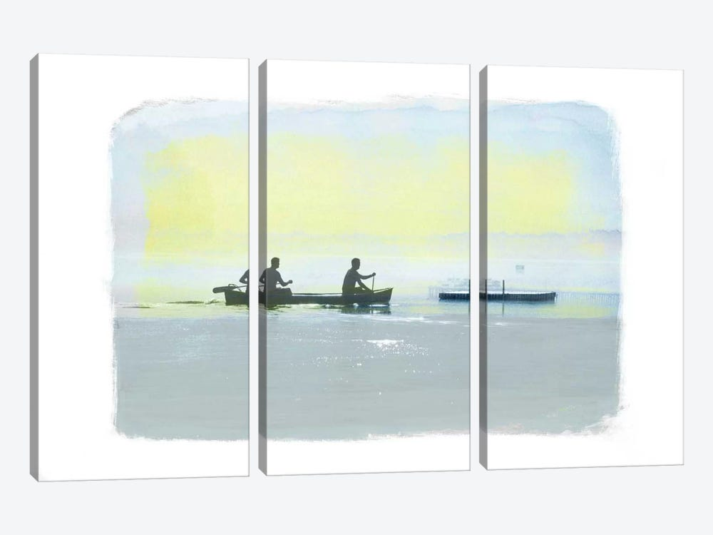 Rowing in the Deep by 5by5collective 3-piece Canvas Print