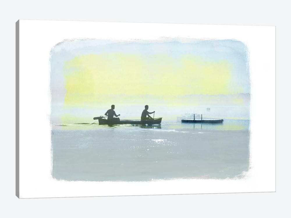 Rowing in the Deep by 5by5collective 1-piece Canvas Print