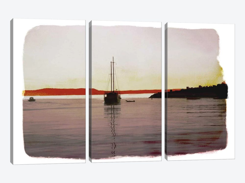 Sailing Back by 5by5collective 3-piece Canvas Art Print