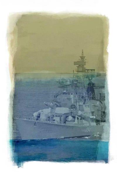 Battle of Trafalgar Stretched Canvas Wall Art Poster Print Painting War Ship