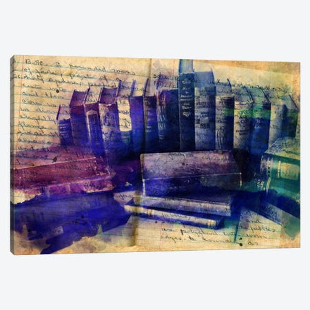 Lessons Written in Books Canvas Print #ICA85} by Unknown Artist Canvas Wall Art