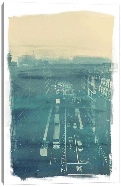The Town Canvas Art Print