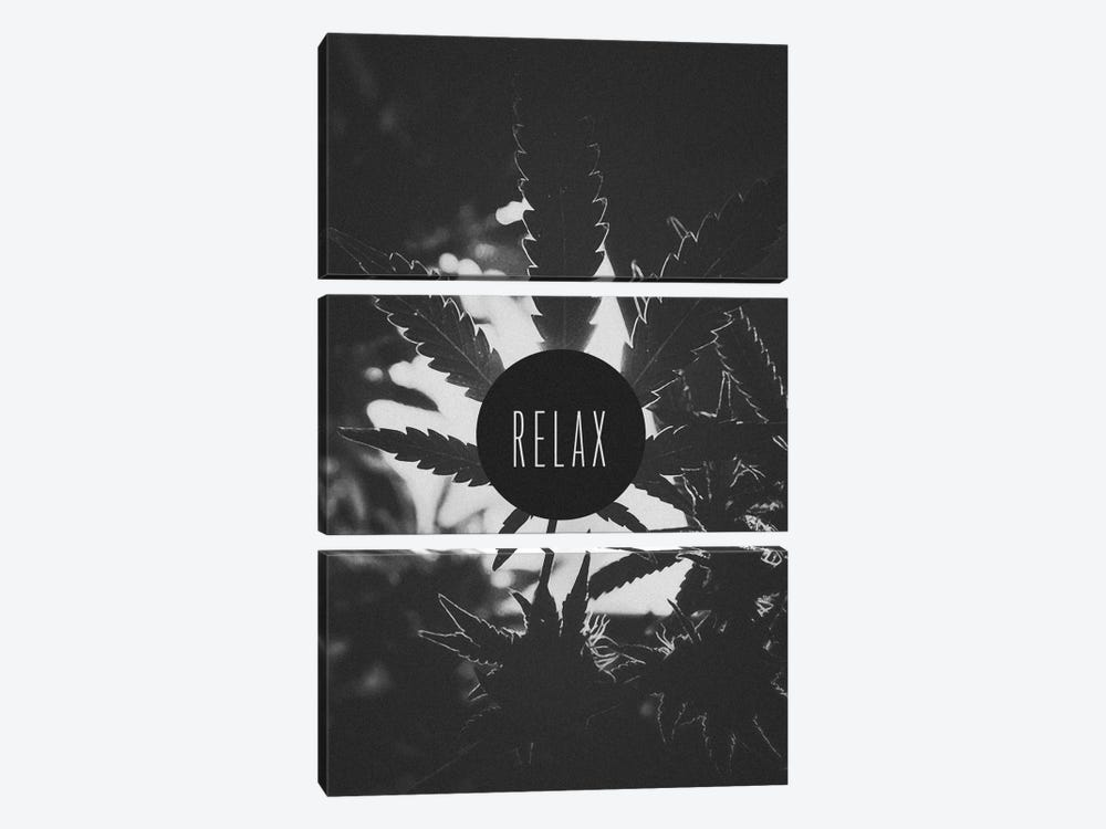 Relax (B&W) by iCanvas 3-piece Canvas Art Print