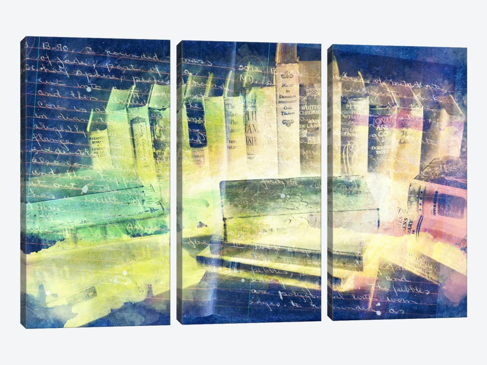 Lessons Written in Books (Negative) by iCanvas 3-piece Canvas Art