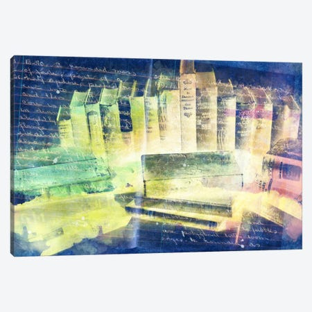 Lessons Written in Books (Negative) Canvas Print #ICA86} by Unknown Artist Canvas Art