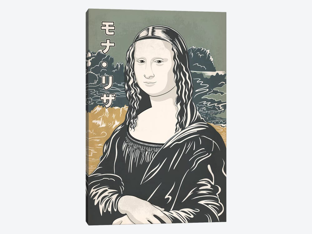 Japanese Retro Ad-Mona Lisa #1 by 5by5collective 1-piece Canvas Wall Art