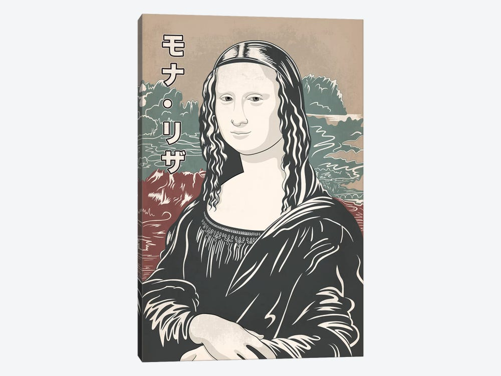 Japanese Retro Ad-Mona Lisa #2 by 5by5collective 1-piece Art Print