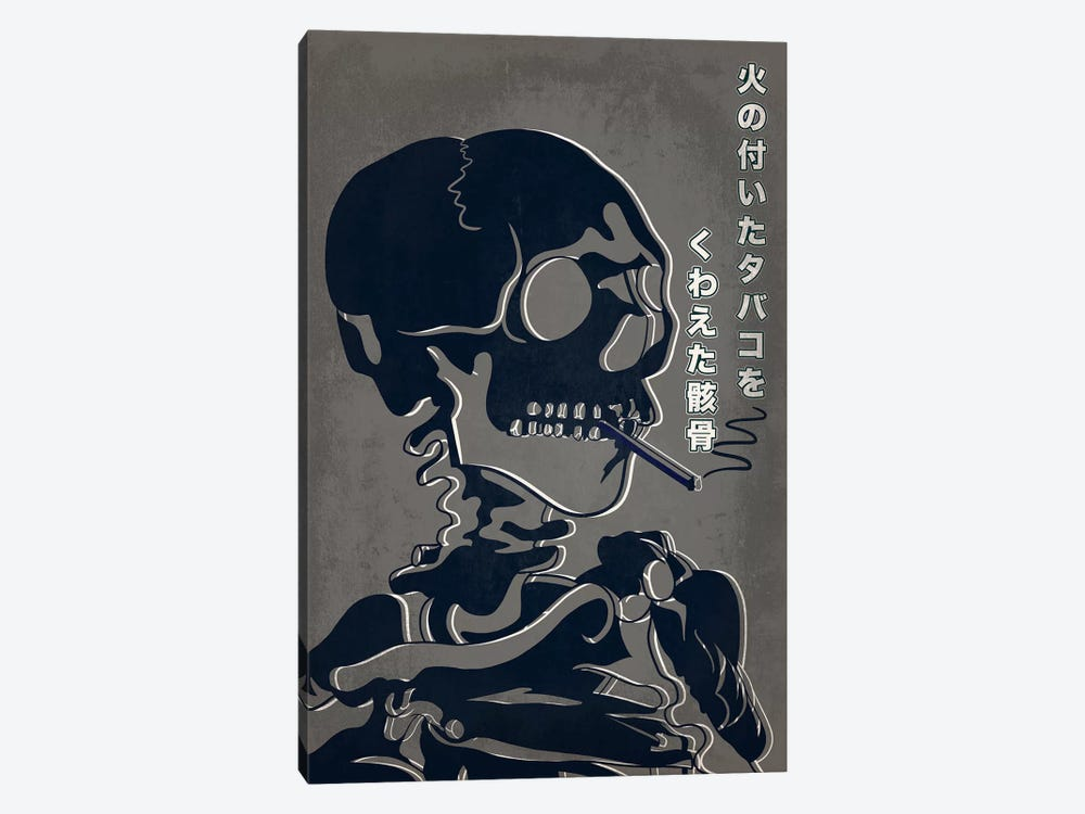 Japanese Retro Ad-Skeleton #1 1-piece Canvas Wall Art