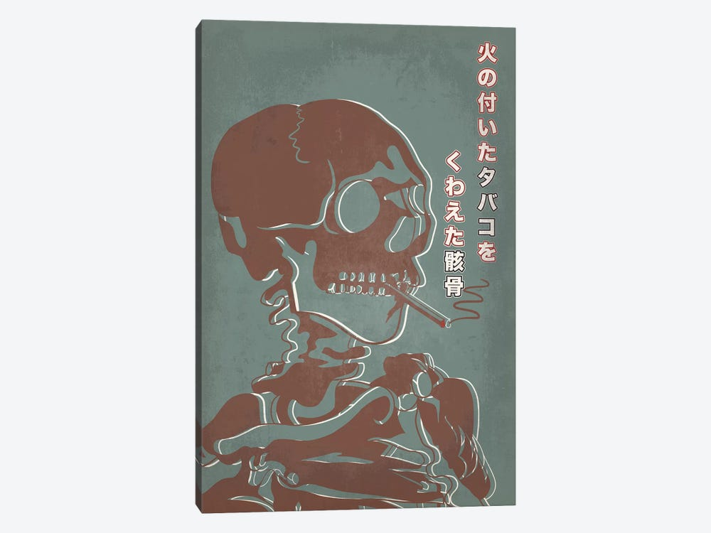 Japanese Retro Ad-Skeleton #2 by 5by5collective 1-piece Canvas Art Print