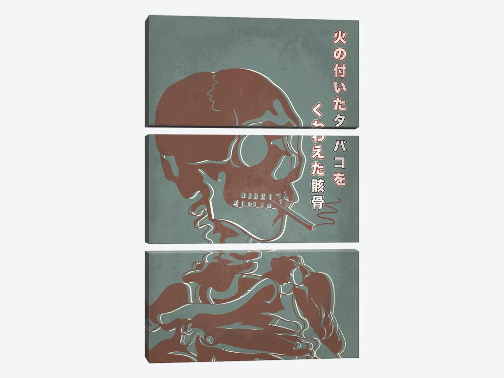 Japanese Retro Ad-Skeleton #2 by 5by5collective 3-piece Art Print
