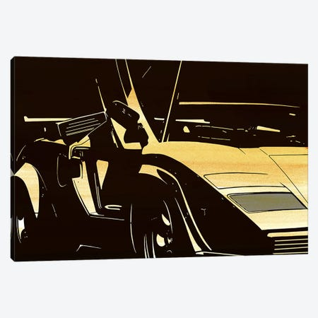 Lambo Door Canvas Print #ICA897} by 5by5collective Canvas Wall Art