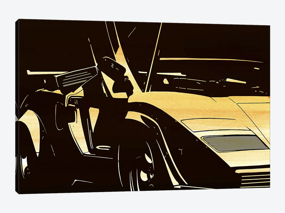 Lambo Door by 5by5collective 1-piece Canvas Art Print