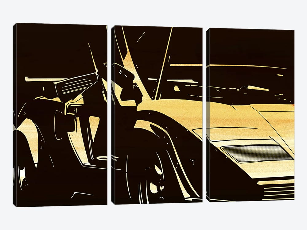 Lambo Door by 5by5collective 3-piece Art Print