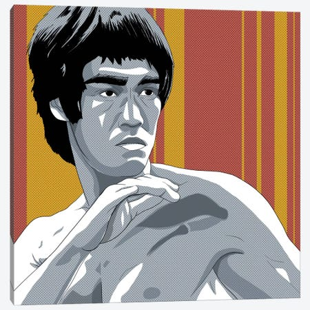 Kung Fu Fighter Canvas Print #ICA901} by 5by5collective Canvas Art Print