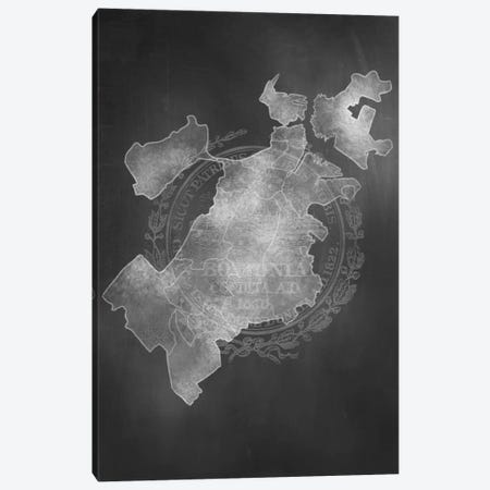 Boston Chalk Map Canvas Print #ICA90} by 5by5collective Canvas Art