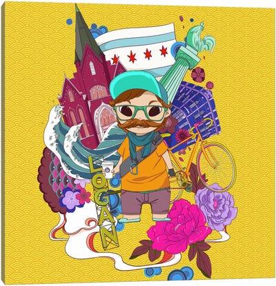 Logan Square Neon Canvas Art Print