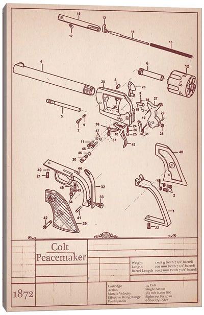Colt Peacemaker Diagram Canvas Art Print