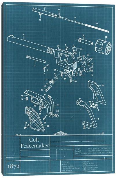 Colt Peacemaker Blueprint Diagram Canvas Art Print