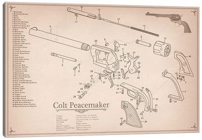 Colt Peacemaker Diagram #2 Canvas Art Print
