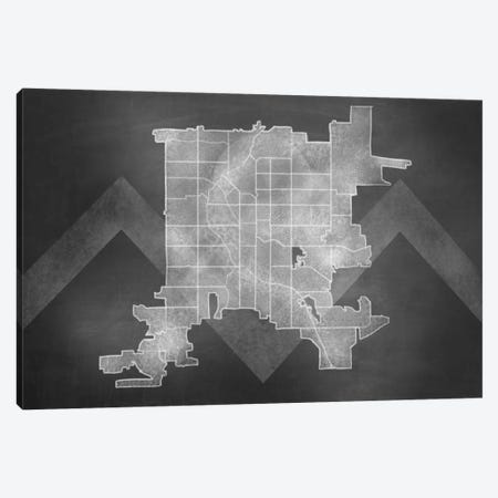 Denver Chalk Map Canvas Print #ICA93} by 5by5collective Canvas Art
