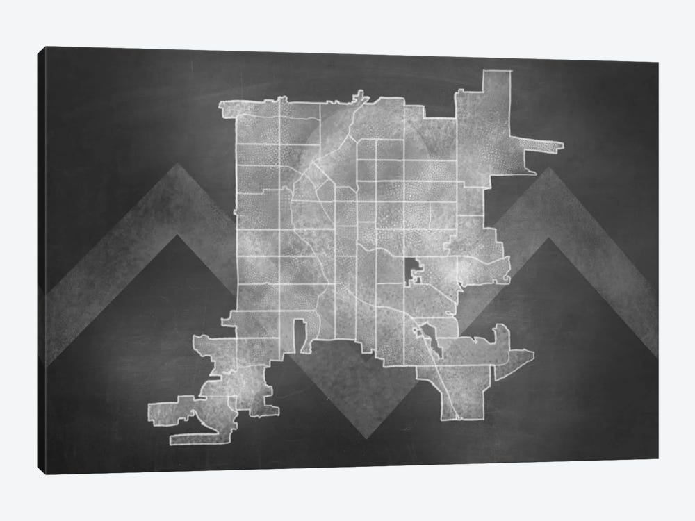 Denver Chalk Map by 5by5collective 1-piece Canvas Art