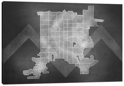 Denver Chalk Map Canvas Art Print