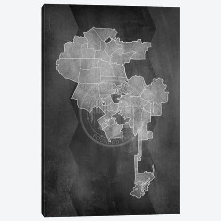 Los Angeles Chalk Map Canvas Print #ICA94} by 5by5collective Canvas Art Print