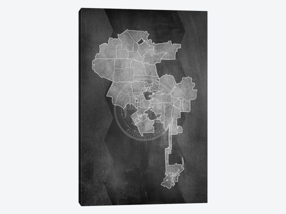 Los Angeles Chalk Map by 5by5collective 1-piece Canvas Print