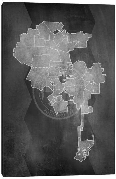 Los Angeles Chalk Map Canvas Art Print