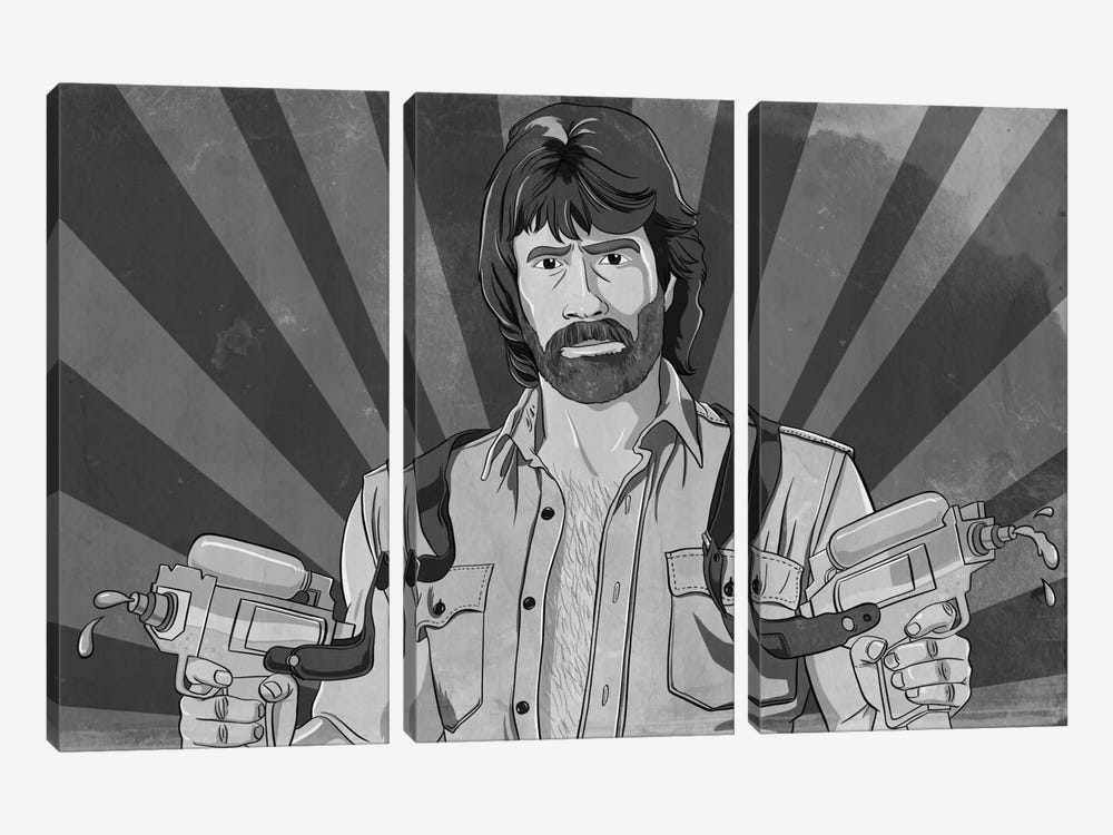 He's Packing Greyscale 3-piece Art Print